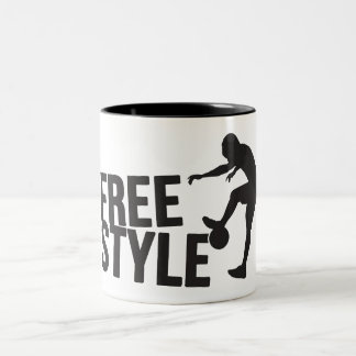 Football Freestyle | Soccer Two-Tone Coffee Mug