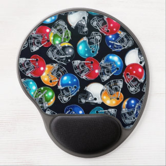 Football Frenzy Football Helmet Pattern Mouse Pad Gel Mouse Pad