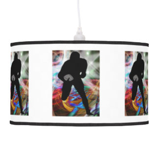 Football Friday Night Lights ANY COLOR BACKGROUND Pendant Lamp