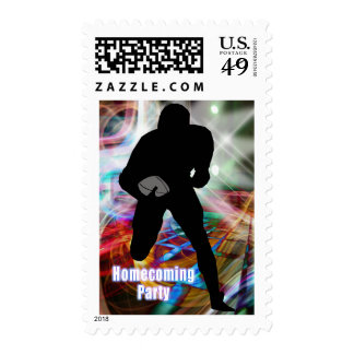 Football Friday Night Lights Homecoming Party Postage Stamps