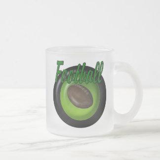 Football Frosted Glass Coffee Mug
