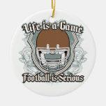 Football Game Brown Christmas Tree Ornaments