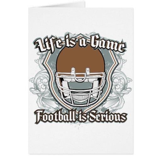 Football Game Brown Greeting Card