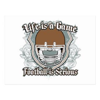 Football Game Brown Post Card