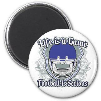 Football Game Dark Blue 2 Inch Round Magnet