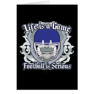 Football Game Dark Blue Greeting Cards
