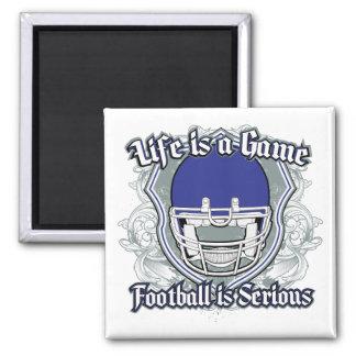 Football Game Dark Blue Magnets
