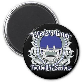 Football Game Dark Blue Fridge Magnet