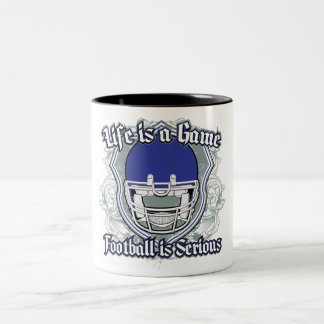 Football Game Dark Blue Two-Tone Coffee Mug