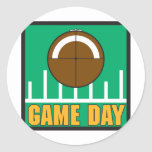 Football Game Day Classic Round Sticker