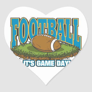 Football Game Day Heart Stickers