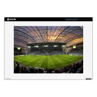 Football game, Forsyth Barr Stadium, Dunedin Laptop Decals