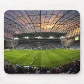 Football game, Forsyth Barr Stadium, Dunedin Mouse Pad