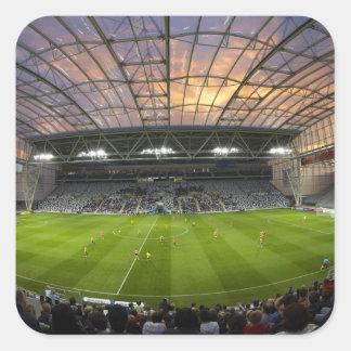 Football game, Forsyth Barr Stadium, Dunedin Square Sticker