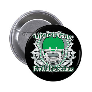 Football Game Green 2 Inch Round Button