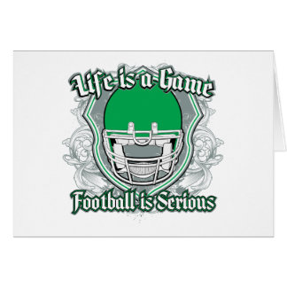 Football Game Green Greeting Cards