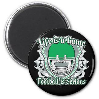 Football Game Green Magnet
