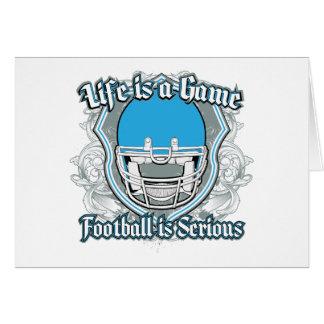 Football Game Light Blue Cards
