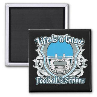 Football Game Light Blue Magnets