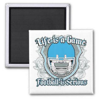 Football Game Light Blue Refrigerator Magnets