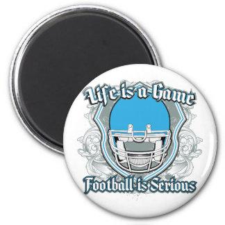 Football Game Light Blue Fridge Magnets