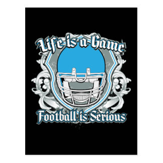 Football Game Light Blue Post Cards