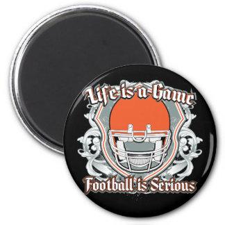 Football Game Orange Magnets