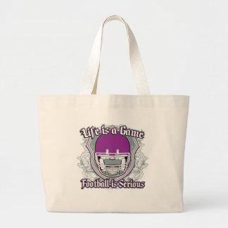 Football Game Purple Canvas Bag