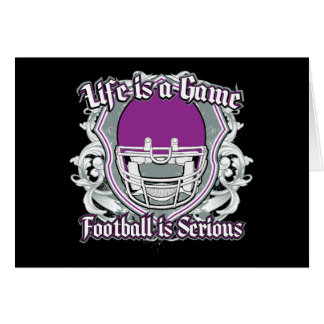 Football Game Purple Cards