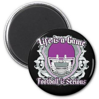 Football Game Purple Fridge Magnets