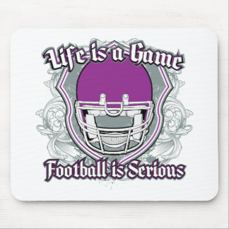 Football Game Purple Mouse Pad