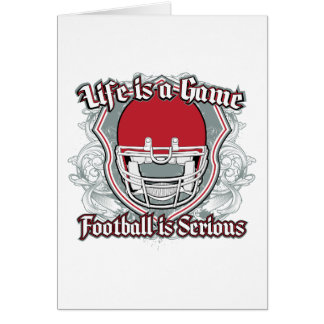 Football Game Red Greeting Cards