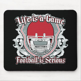 Football Game Red Mouse Pad