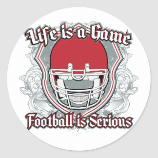 Football Game Red Stickers