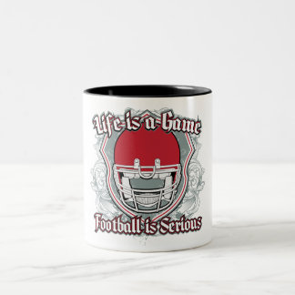 Football Game Red Two-Tone Coffee Mug