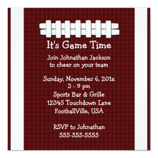 Football Game Time Invitation