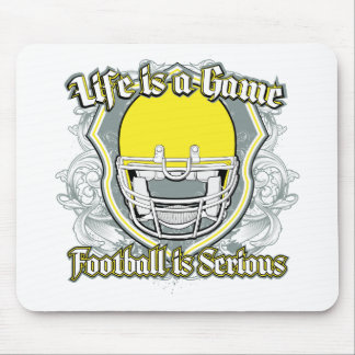 Football Game Yellow Mouse Pad