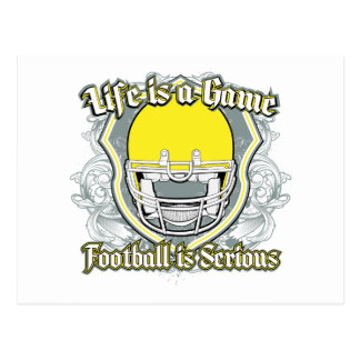 Football Game Yellow Post Cards