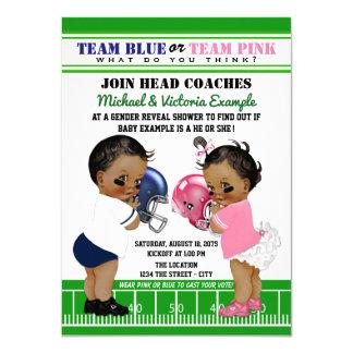 Football Gender Reveal Ethnic Shower Invitations