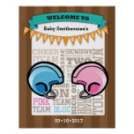 Football Gender Reveal Welcome Poster