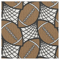 Football geometric doodle pattern fabric