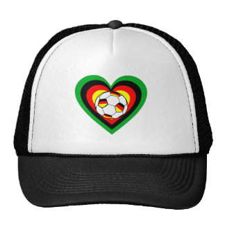 Football Germany heart of soccer Germany heart Hat