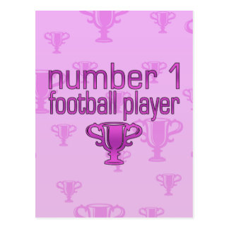 Football Gifts for Her: Number 1 Football Player Postcard