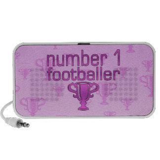 Football Gifts for Her: Number 1 Footballer Mini Speakers