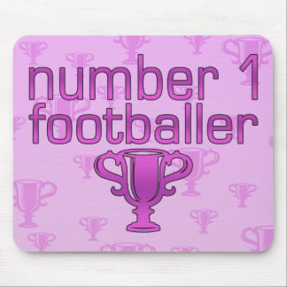 Football Gifts for Her: Number 1 Footballer Mouse Pad