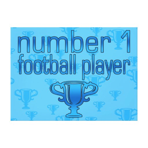 Football Gifts for Him: Number 1 Football Player Canvas Print