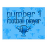 Football Gifts for Him: Number 1 Football Player Post Cards