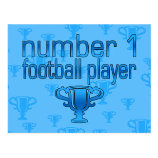 Football Gifts for Him: Number 1 Football Player Postcard