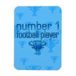 Football Gifts for Him: Number 1 Football Player Rectangle Magnet