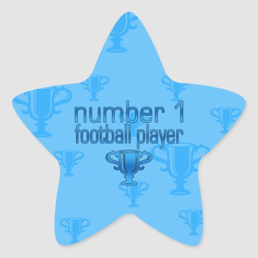 Football Gifts for Him: Number 1 Football Player Star Sticker